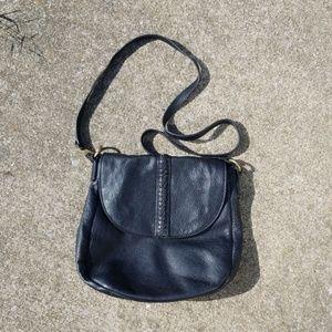 Lucky Brand black soft leather pebbled crossbody